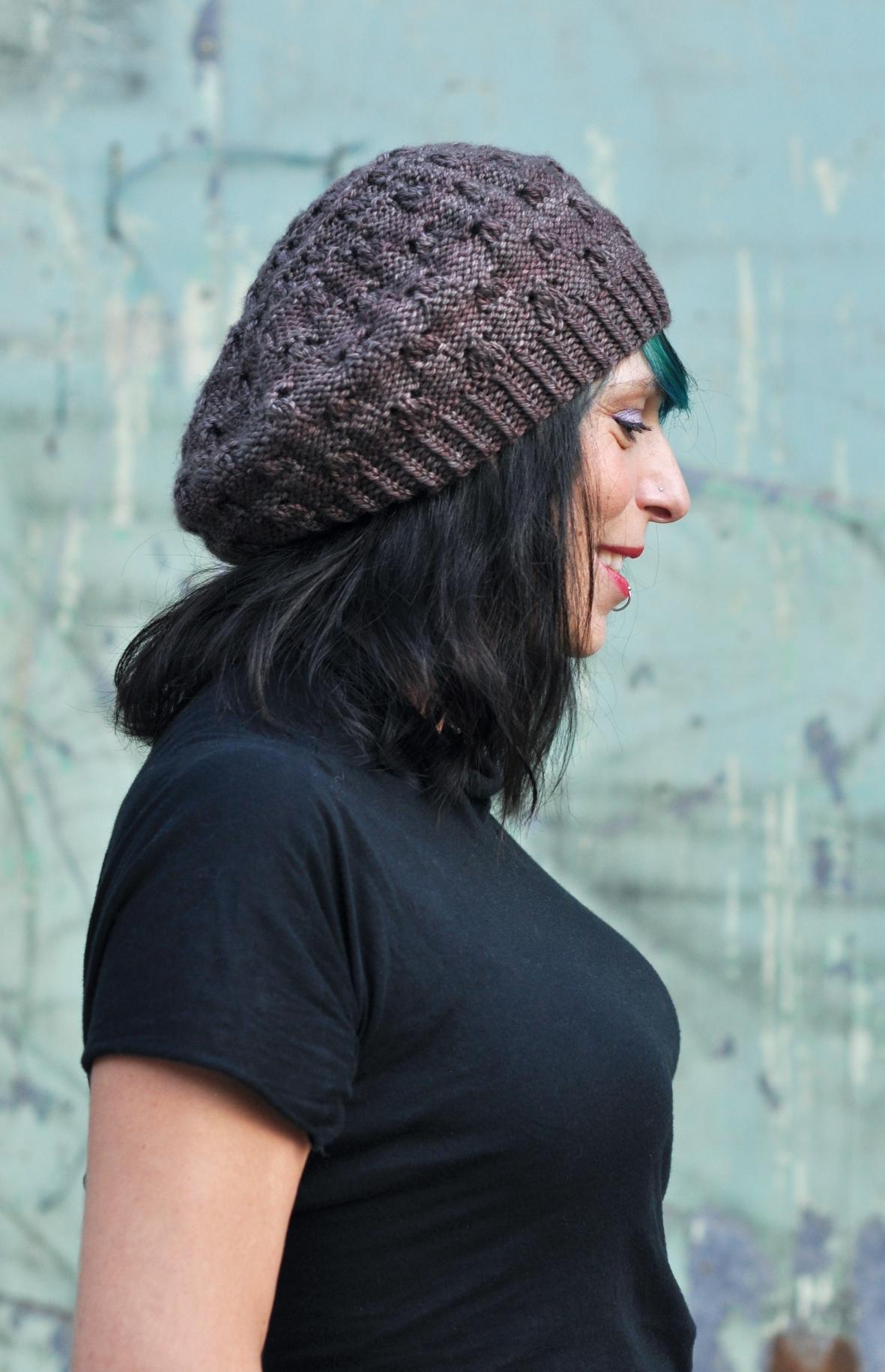 Banksia beret knitting pattern