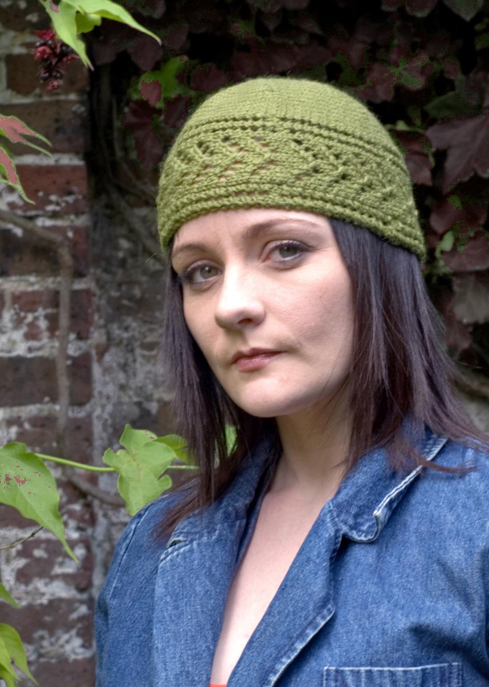 Dryad sideways knit lace Hat pattern