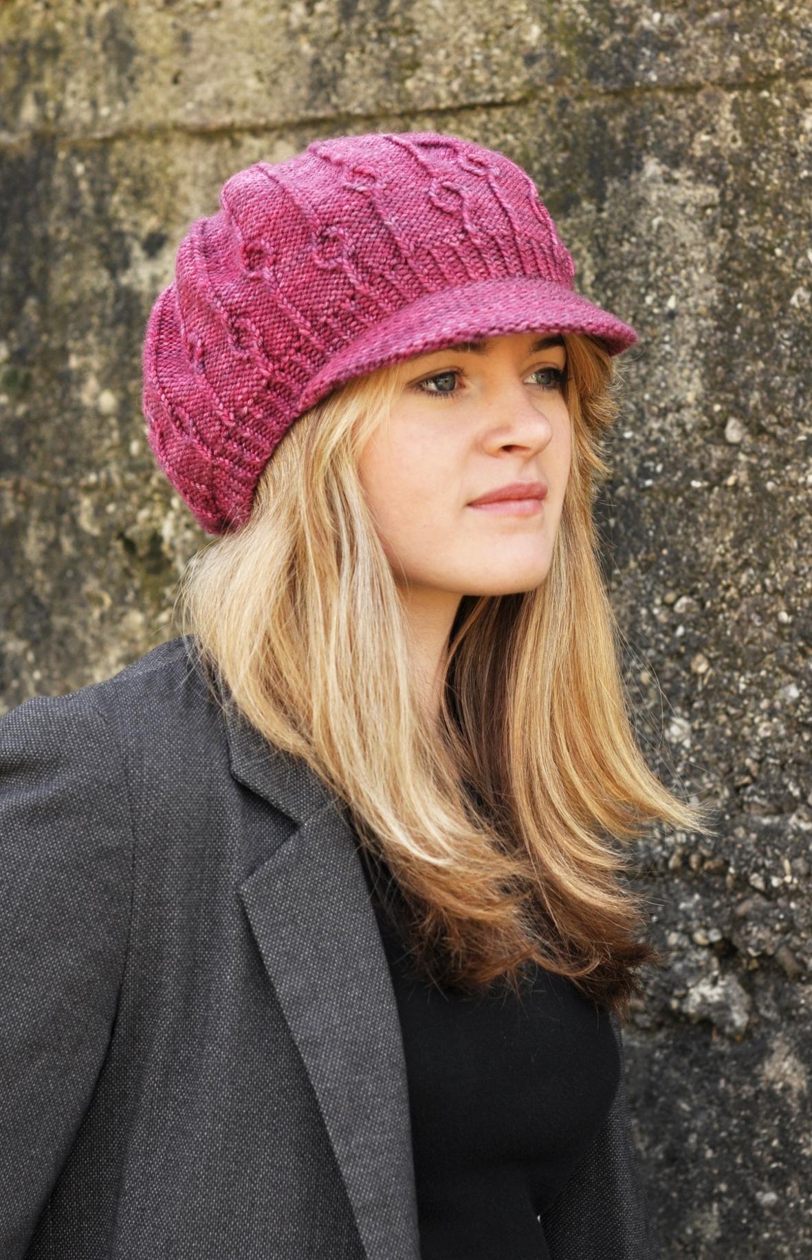Erica brimmed Hat knitting pattern