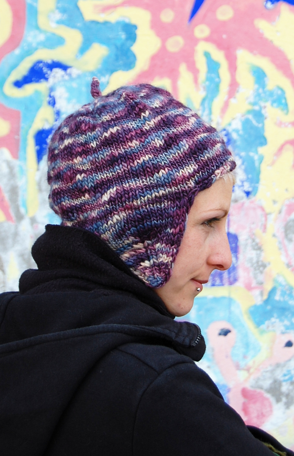 Funky Flapper chullo Hat pattern