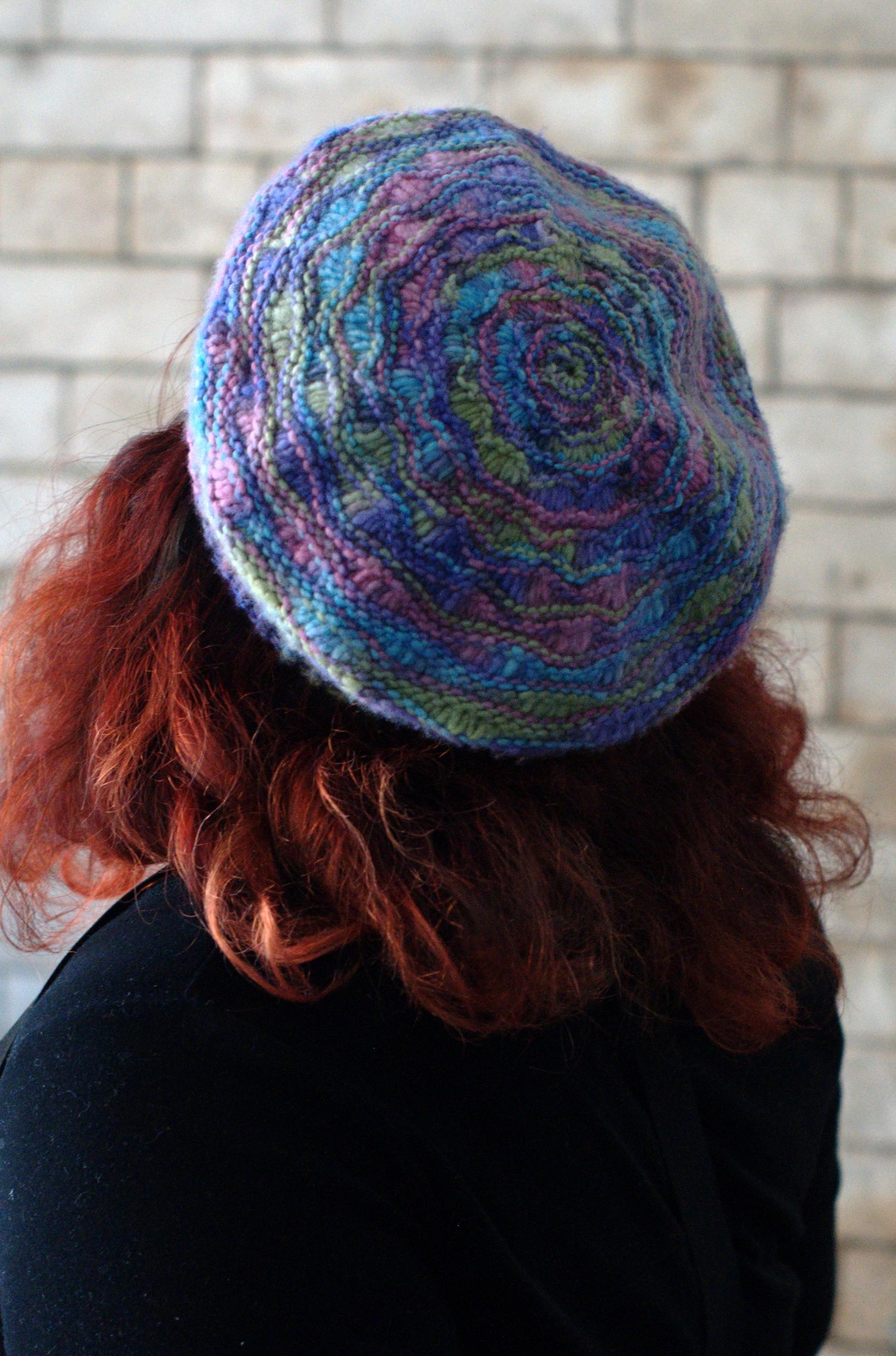 Jetty lace beret knitting pattern