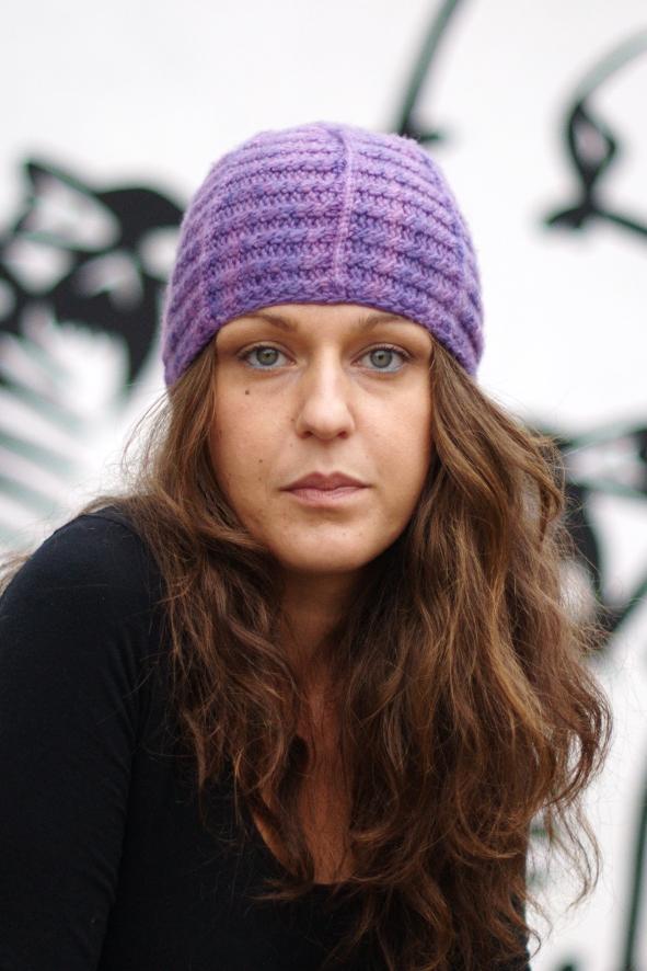 Lenina sideways knit cable Hat pattern