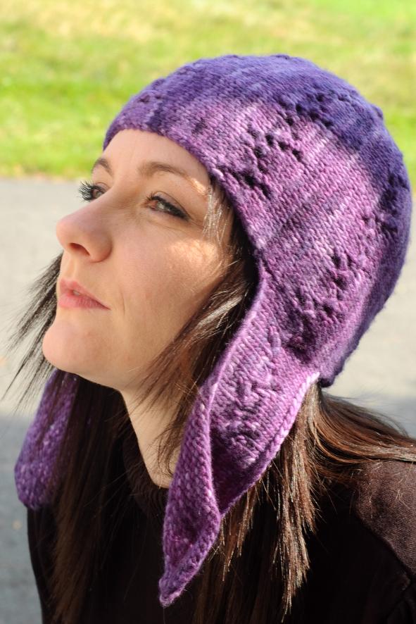 Lucy sideways knit chullo Hat pattern