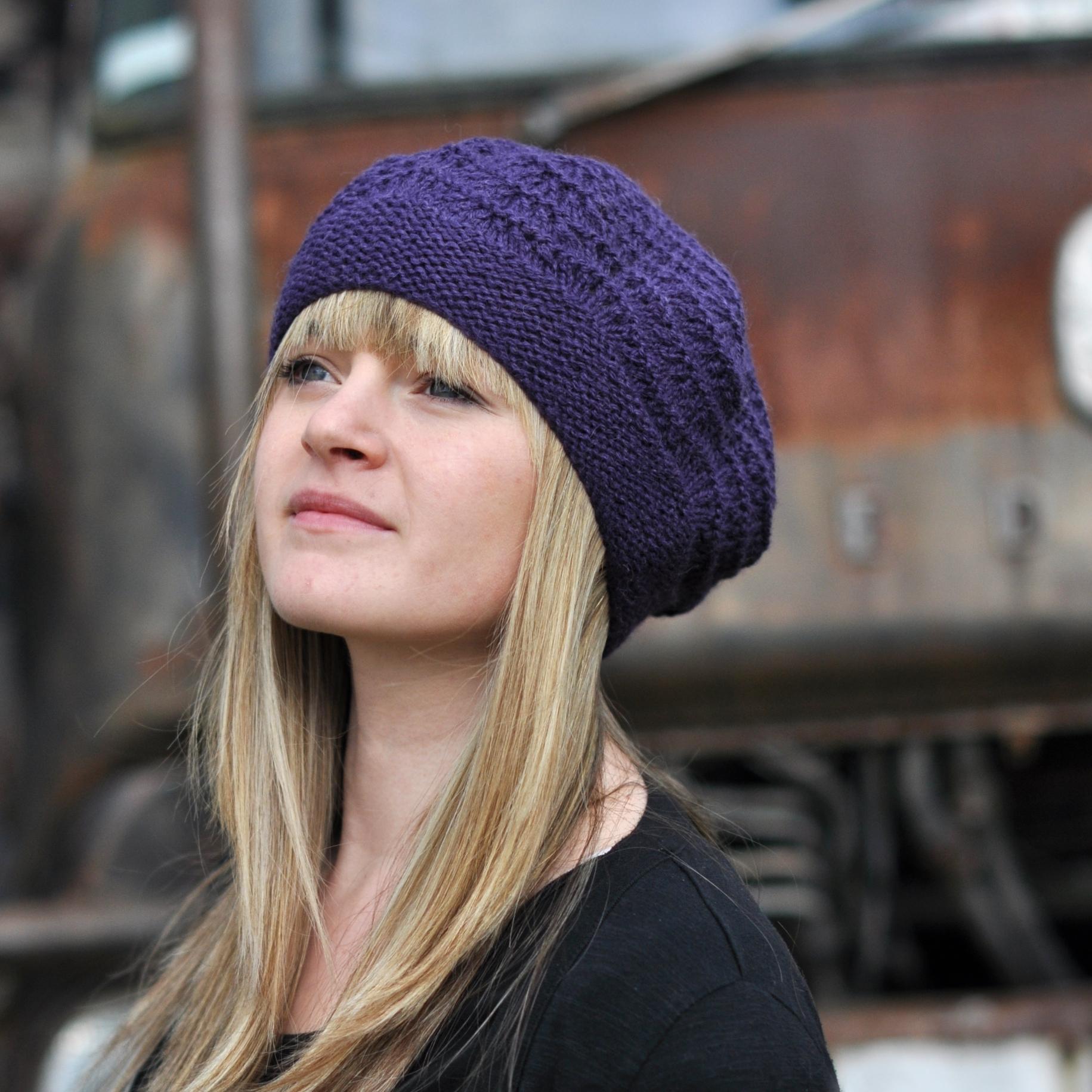 Mayrose lace beret knitting pattern