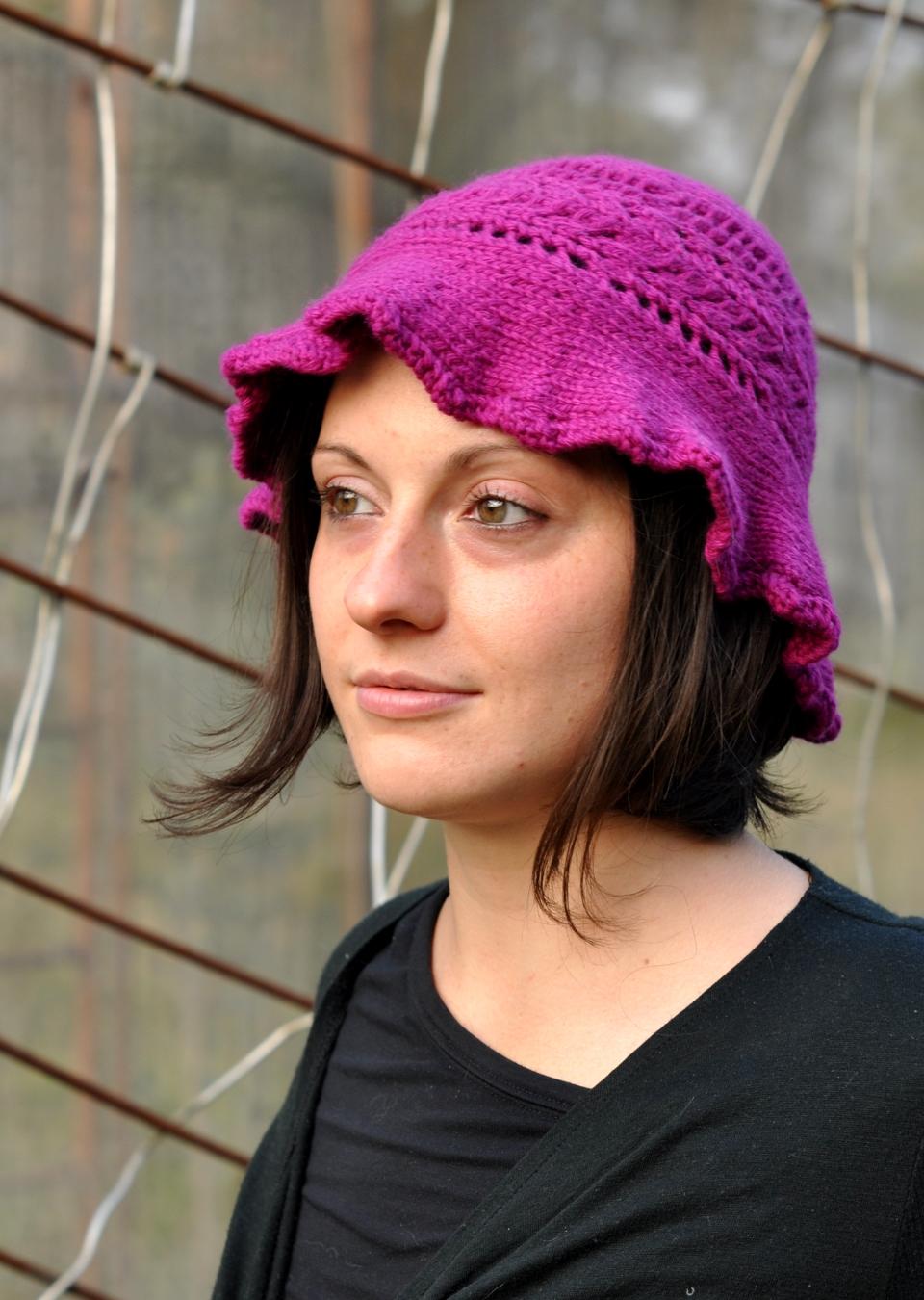 Molly brimmed sun Hat knitting pattern