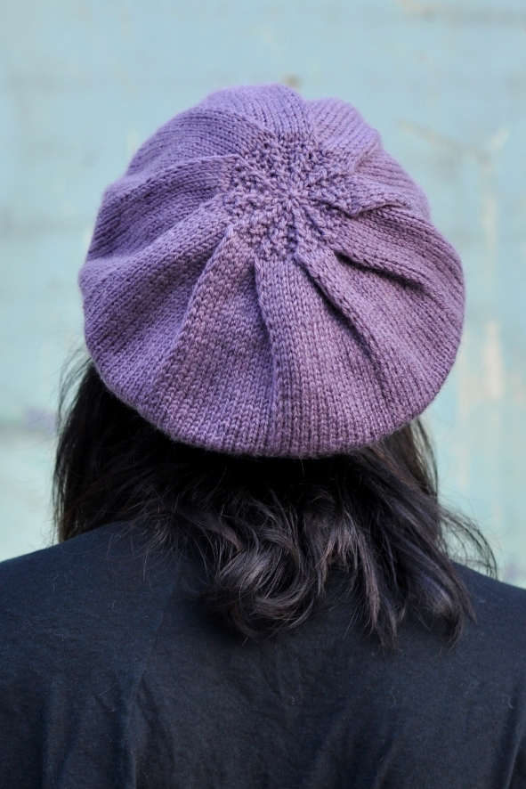 Pleated Beret knitting pattern
