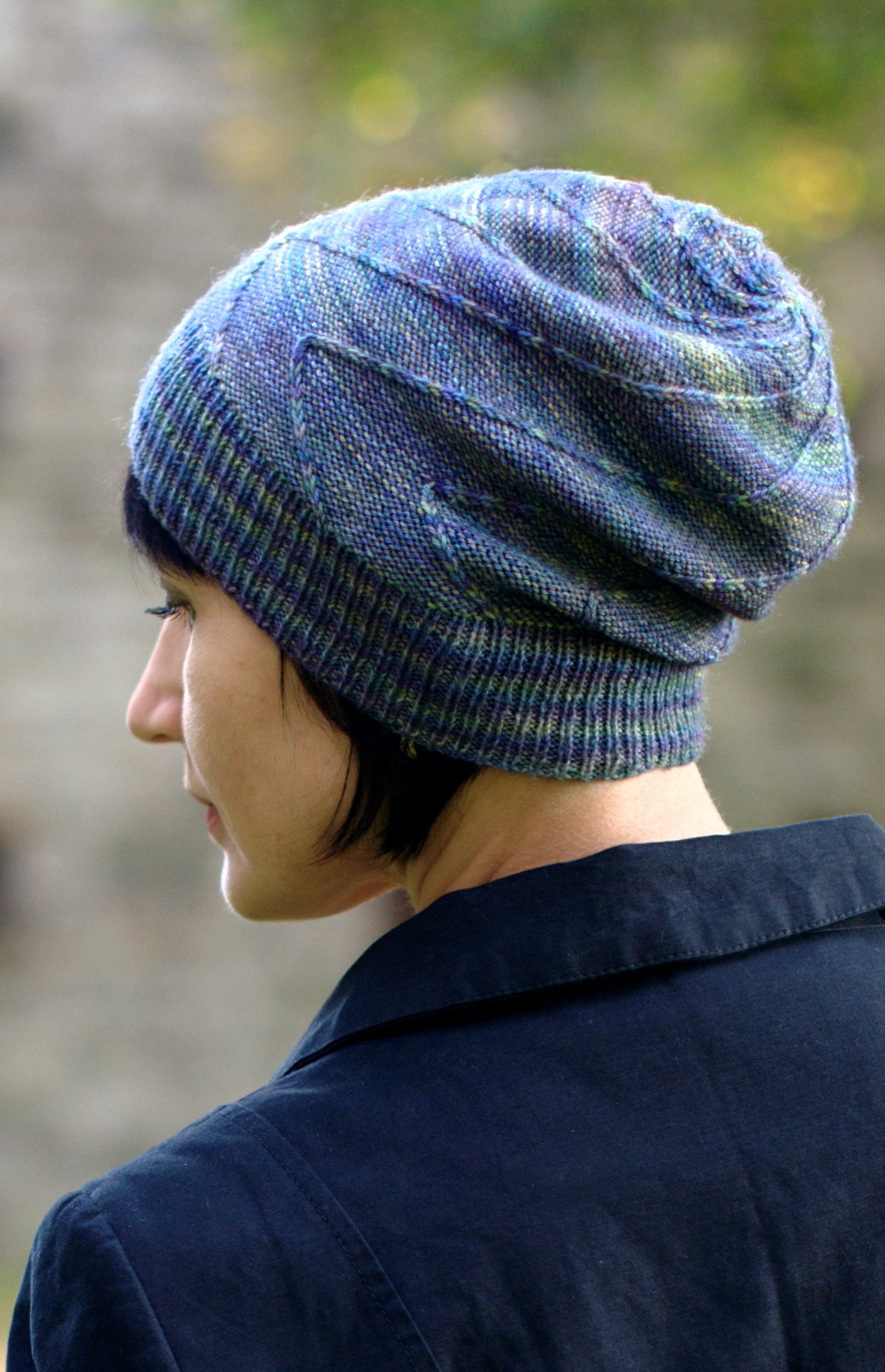 Rubbish Mojitos slouchy Hat knitting pattern