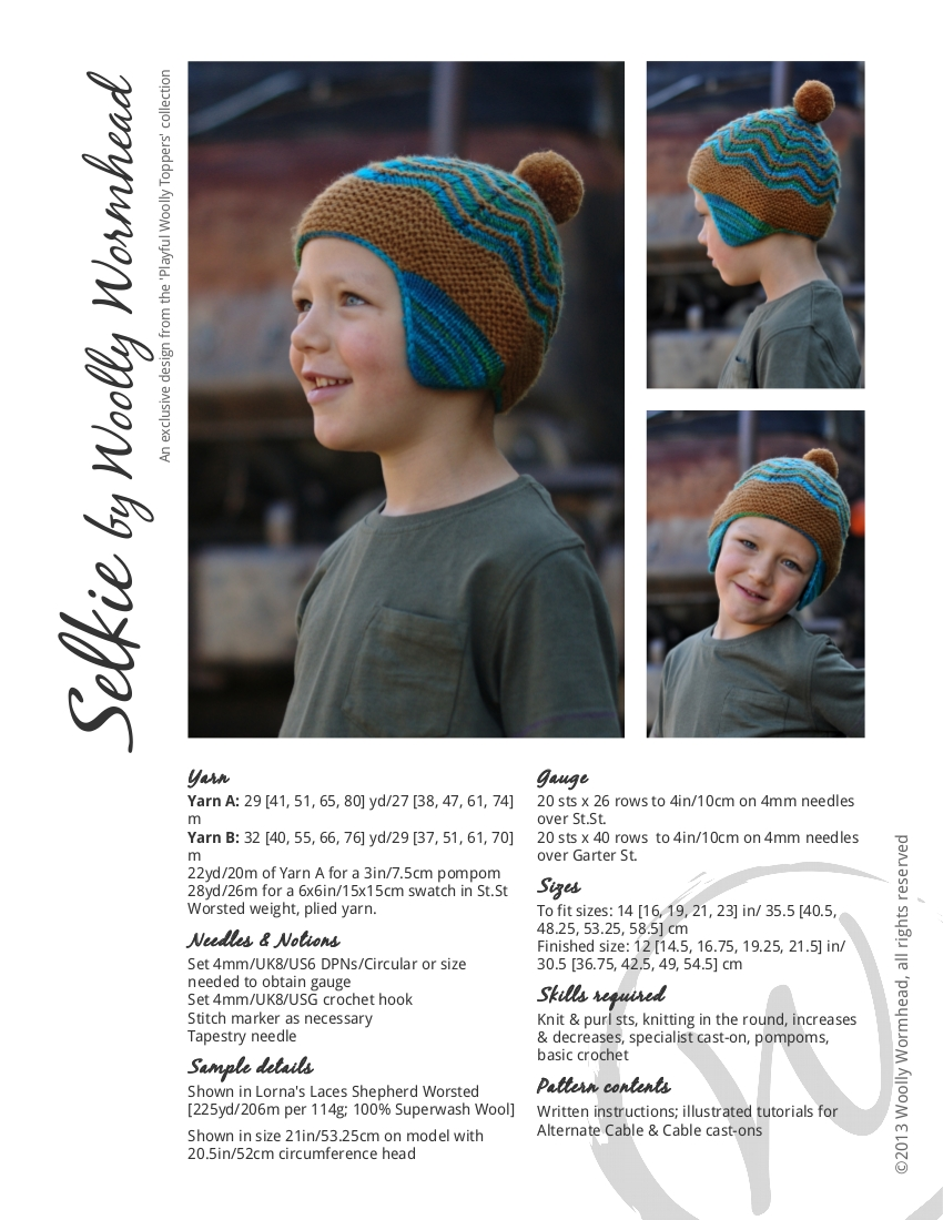 Selkie chullo Hat knitting pattern