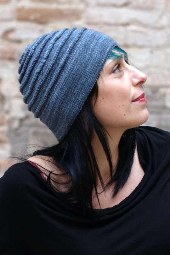 Sumner beanie Hat with circles knitting pattern