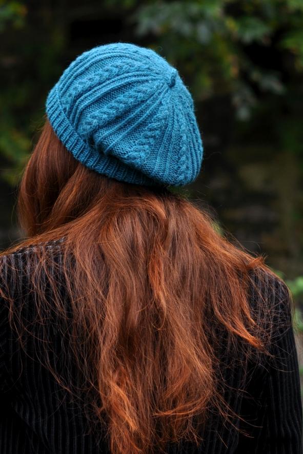 Tamya cable beret knitting pattern
