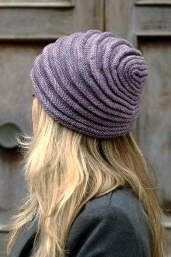 Tucked sculptural Hat hand knitting pattern