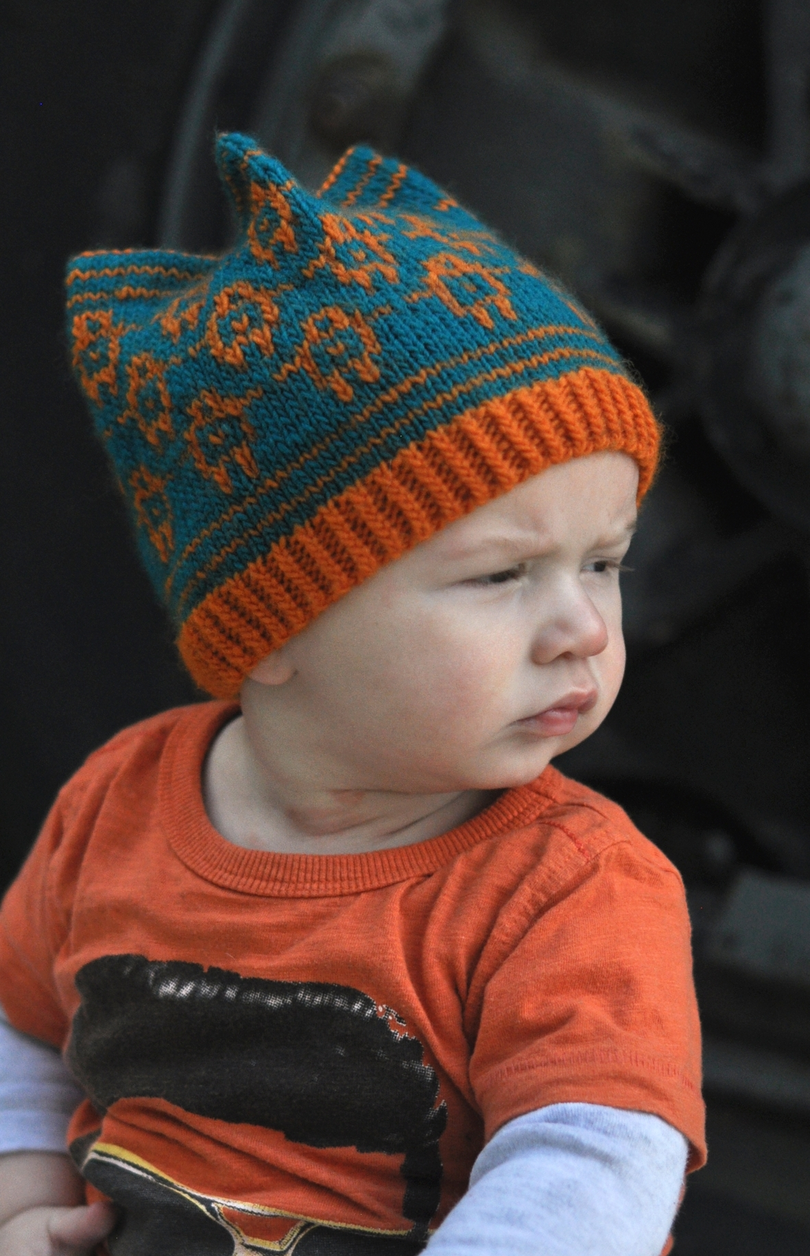 Golem stranded Hat knitting pattern for kids