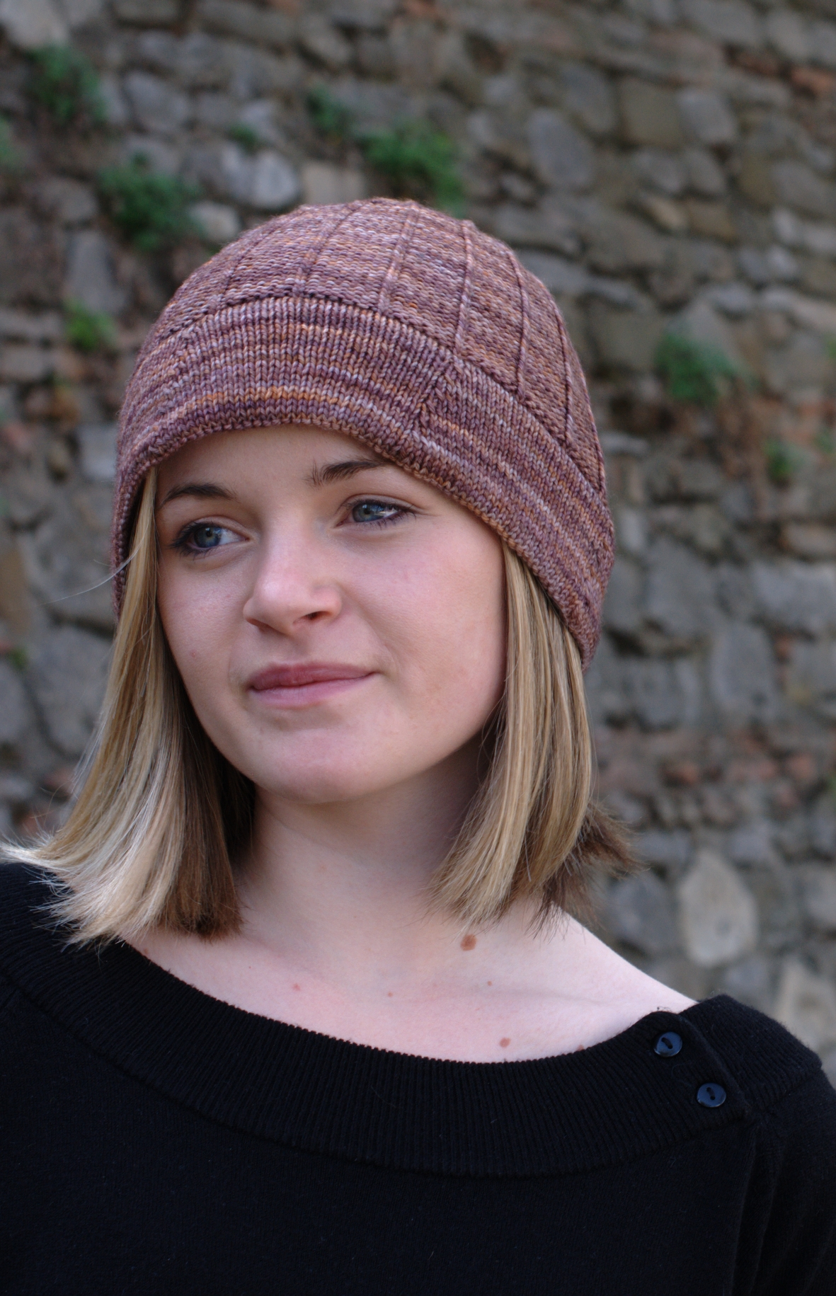 Corbelle brimmed Hat hand knitting pattern
