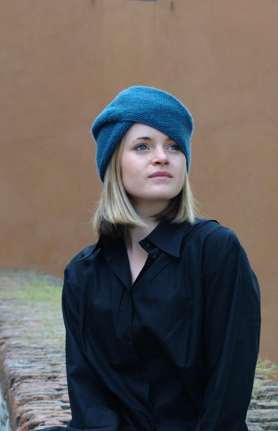 Imagiro turban Hat hand knitting pattern