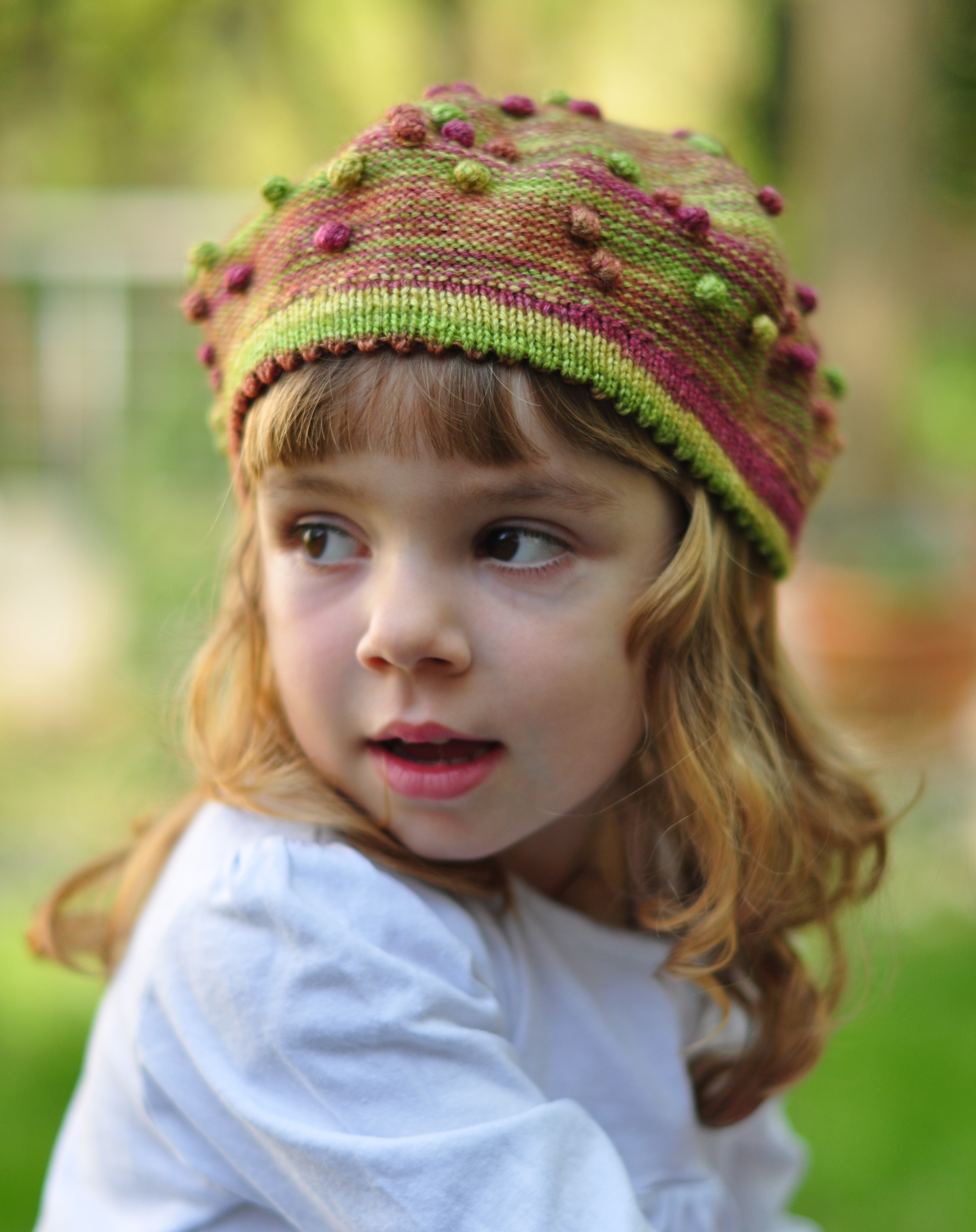 Nupkin childs beret knitting pattern for sock yarn