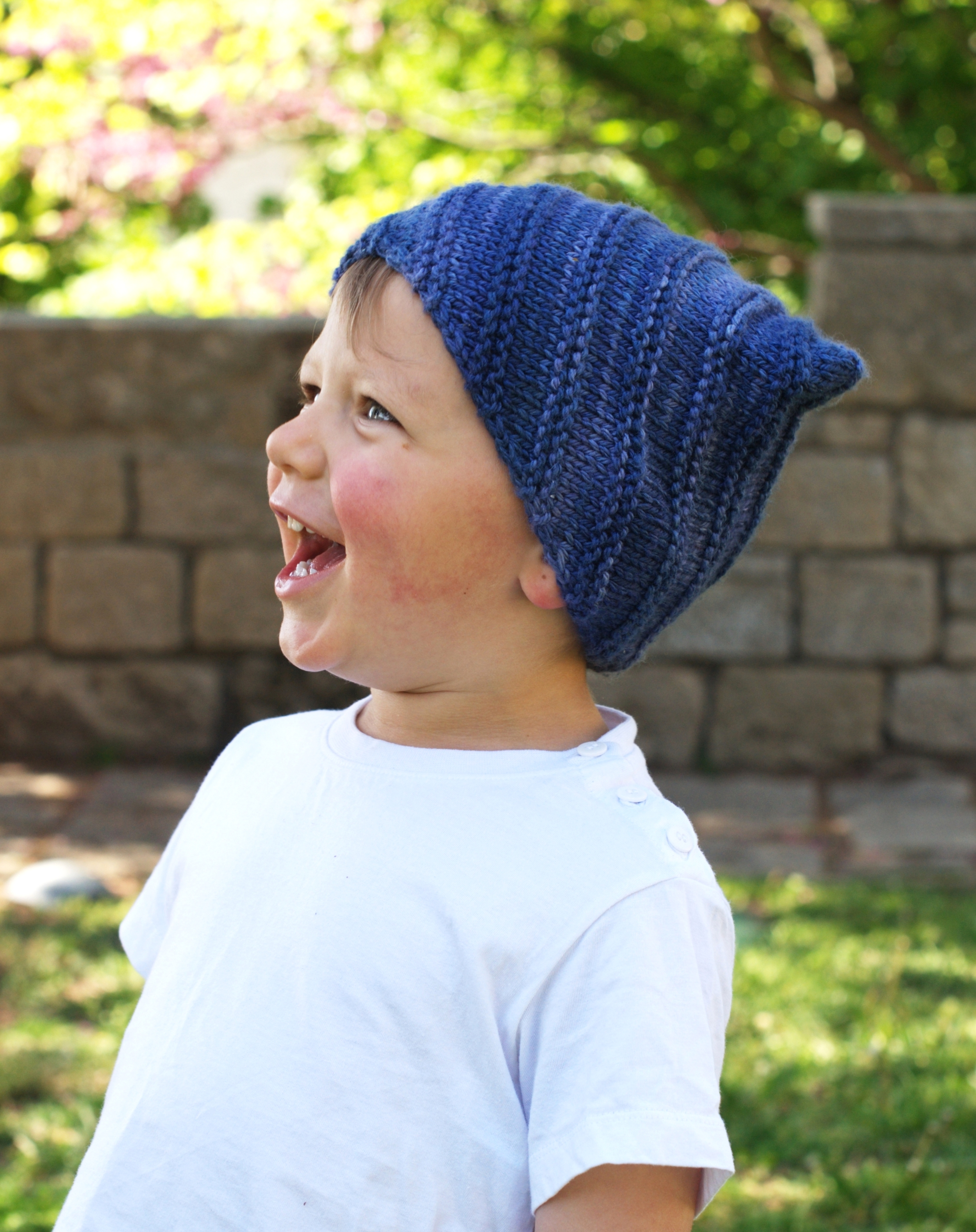 Tipper childs Hat hand knitting pattern