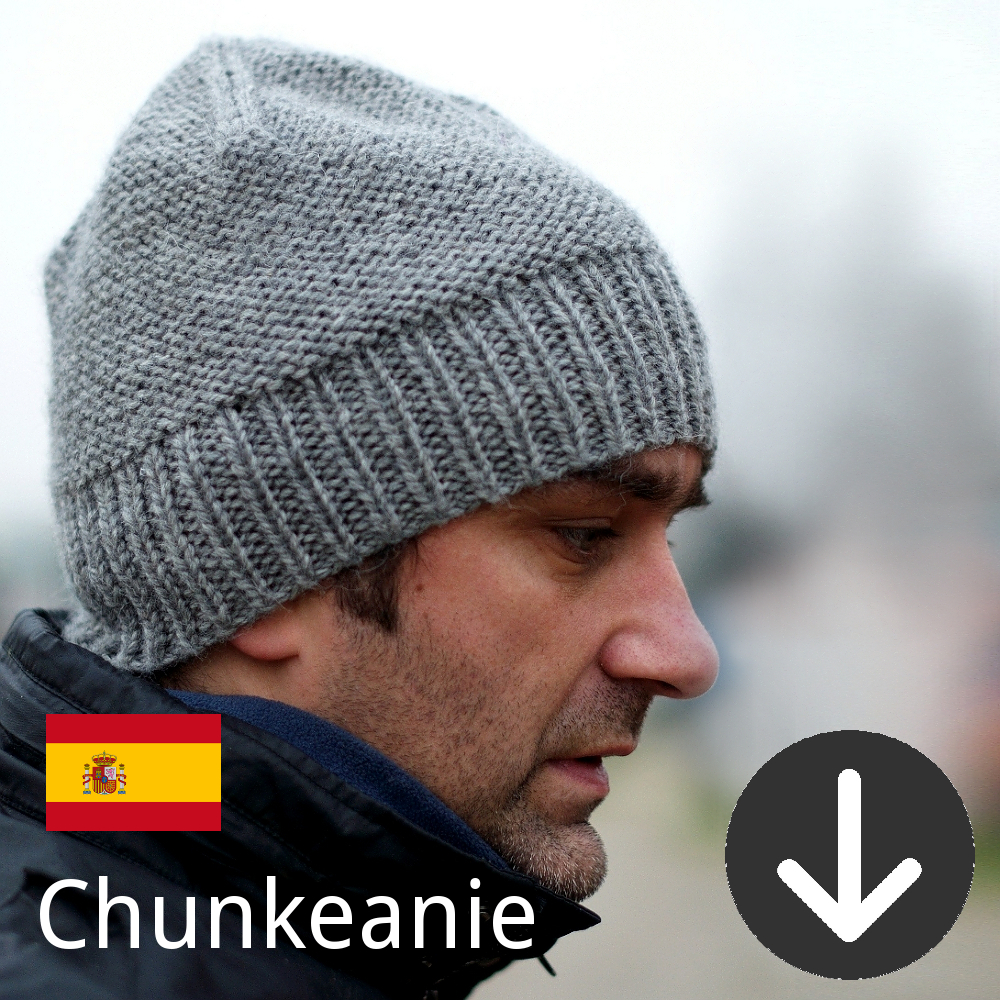 free Chunkeanie slouchy Hat knitting pattern in Spanish
