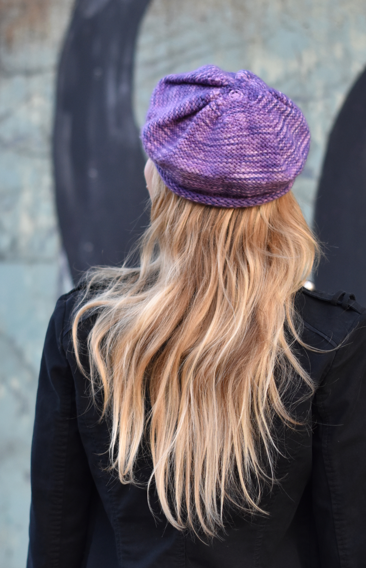 Urchin Cap knitting pattern for variegated yarn
