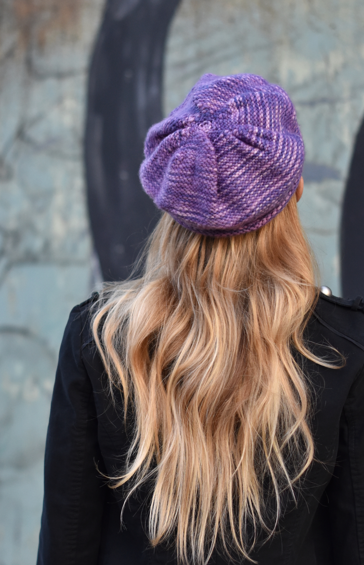 Urchin Cap knitting pattern for hand painted yarn