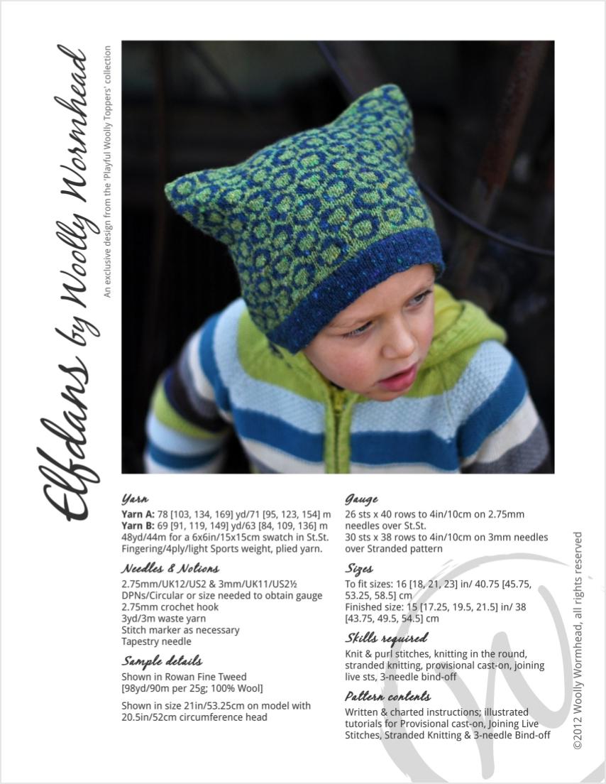 Elfdans fairisle Hat knitting pattern
