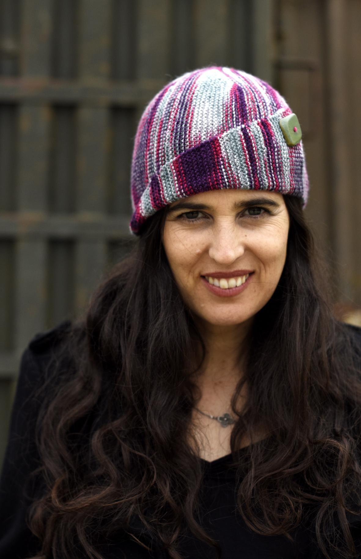 Dutrieu sideways knit cloche Hat knitting pattern
