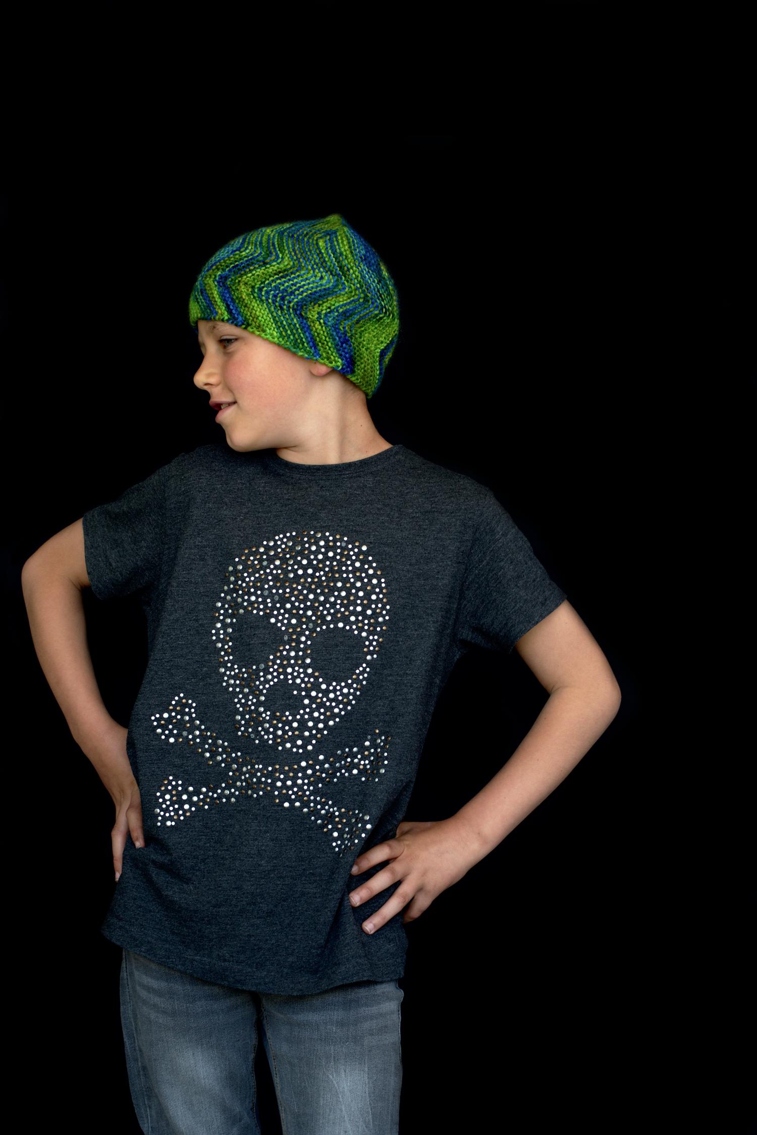 Mobberley hand knitting pattern for sideways knit pixie Hat