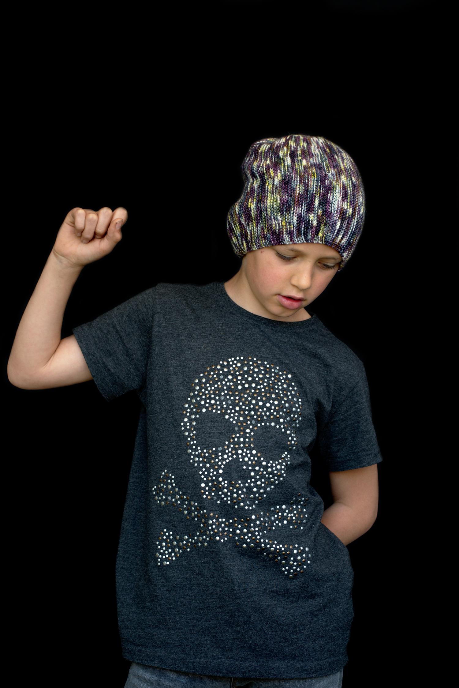 Kelvinside hand knitting pattern for a slouchy Hat