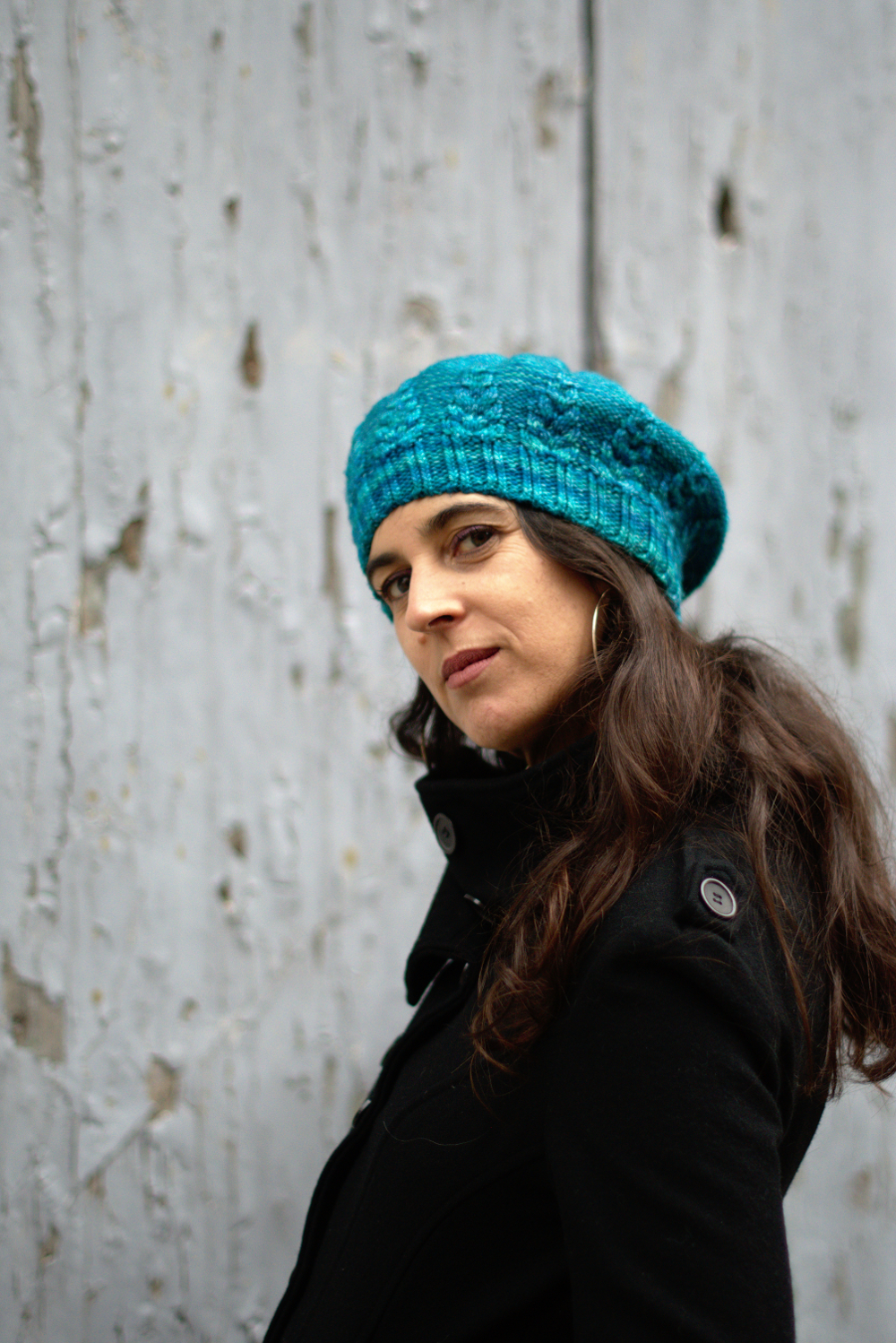 Armley Beret hand knitting pattern for DK weight yarn