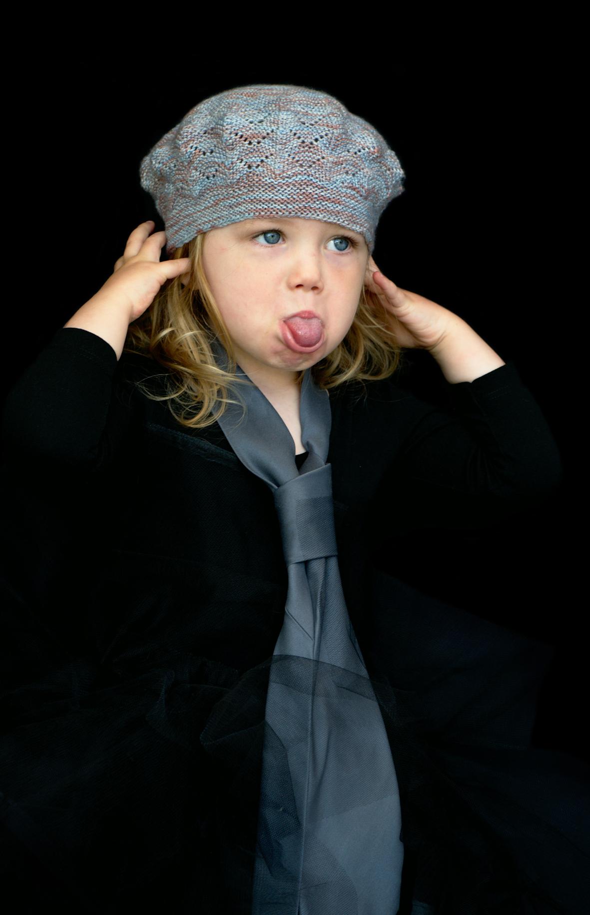 Kilbride hand knitting pattern for a beret