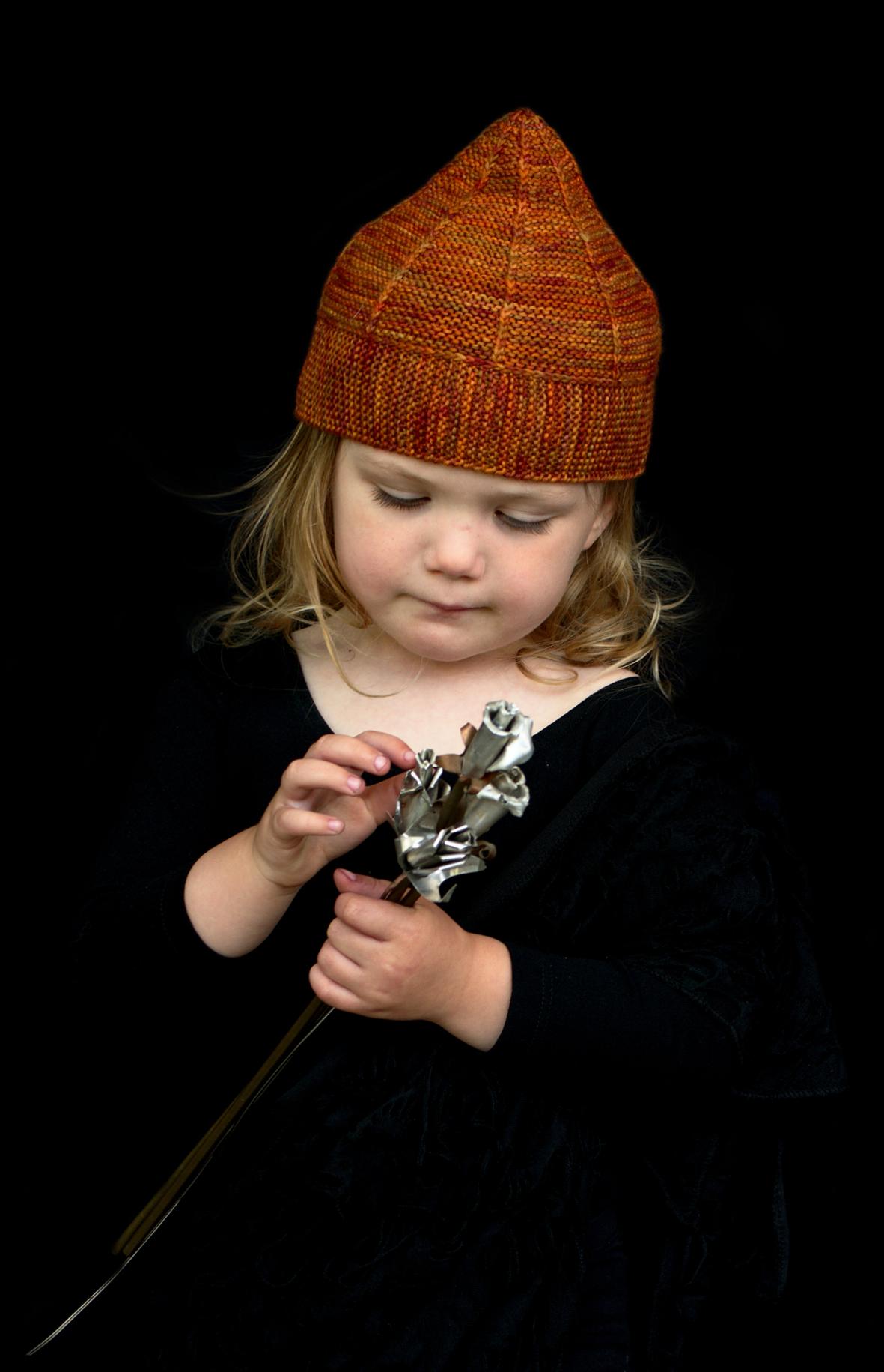 Hadleigh pixie Hat hand knitting pattern