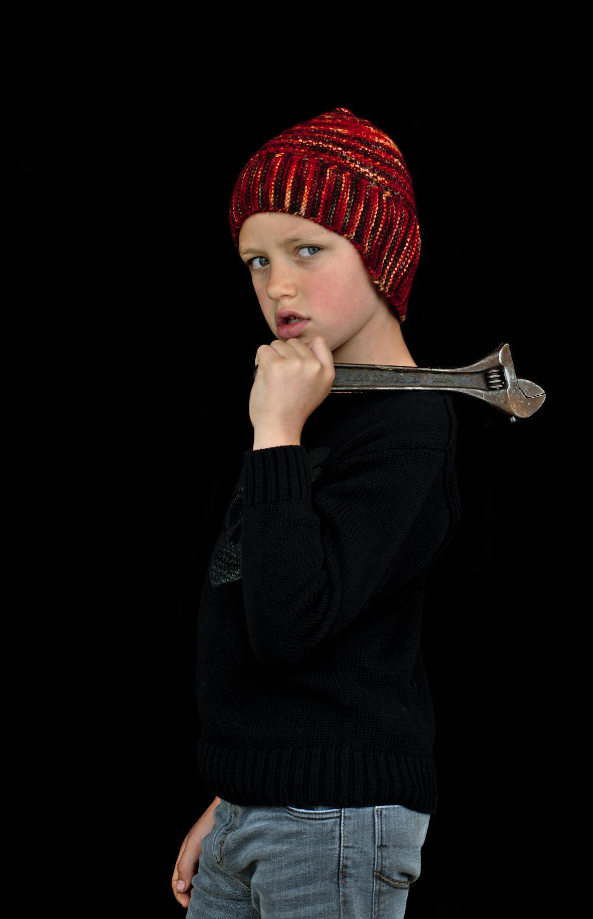 Swinton helmet Hat hand knitting pattern