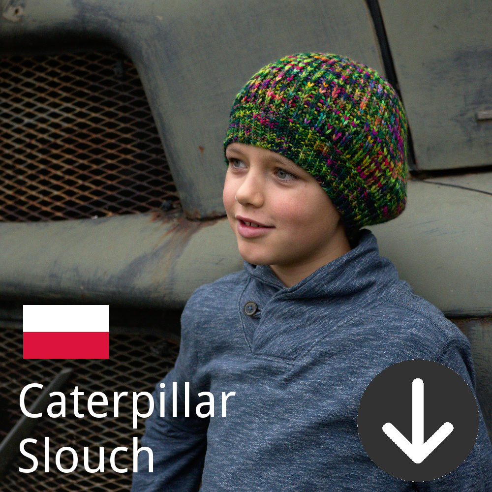 Polish translation for free Caterpiller Slouch Hat pattern
