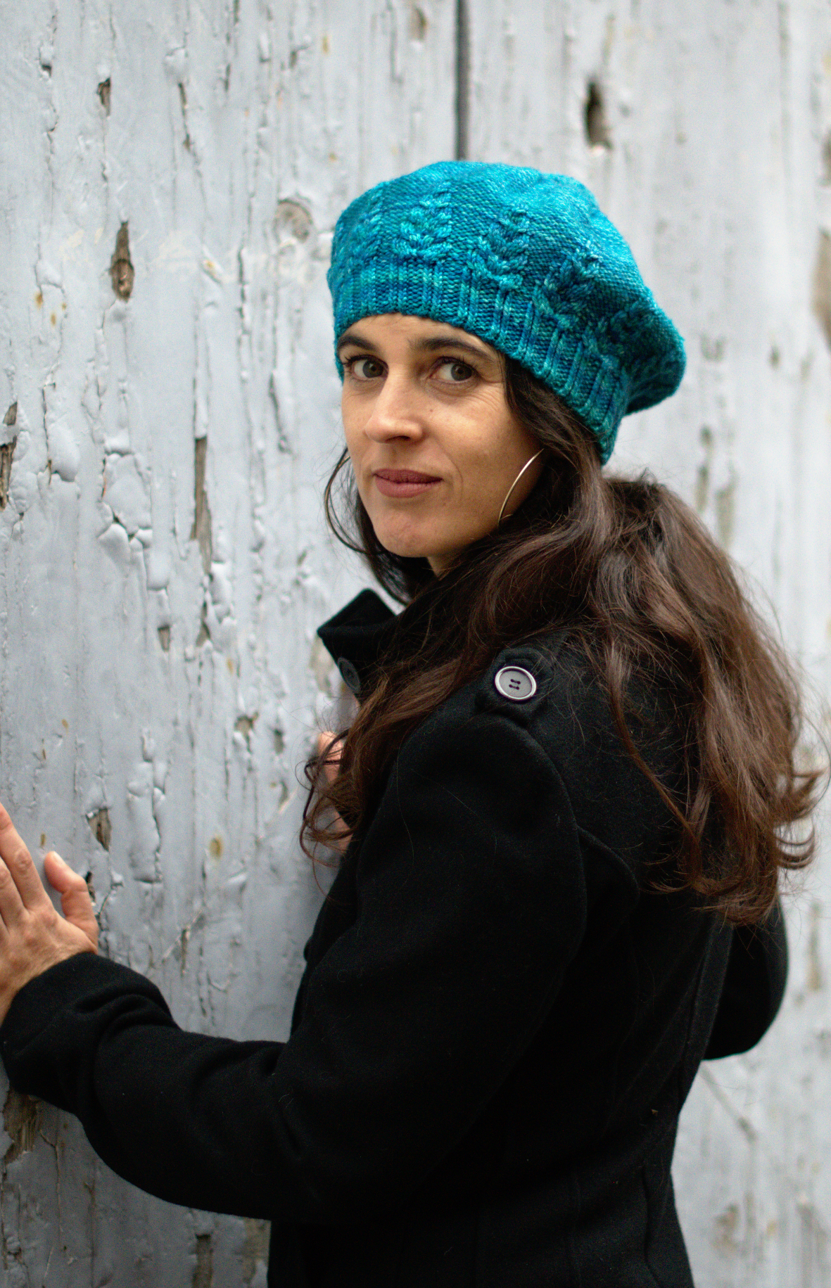 hand knitting pattern for the Armley beret
