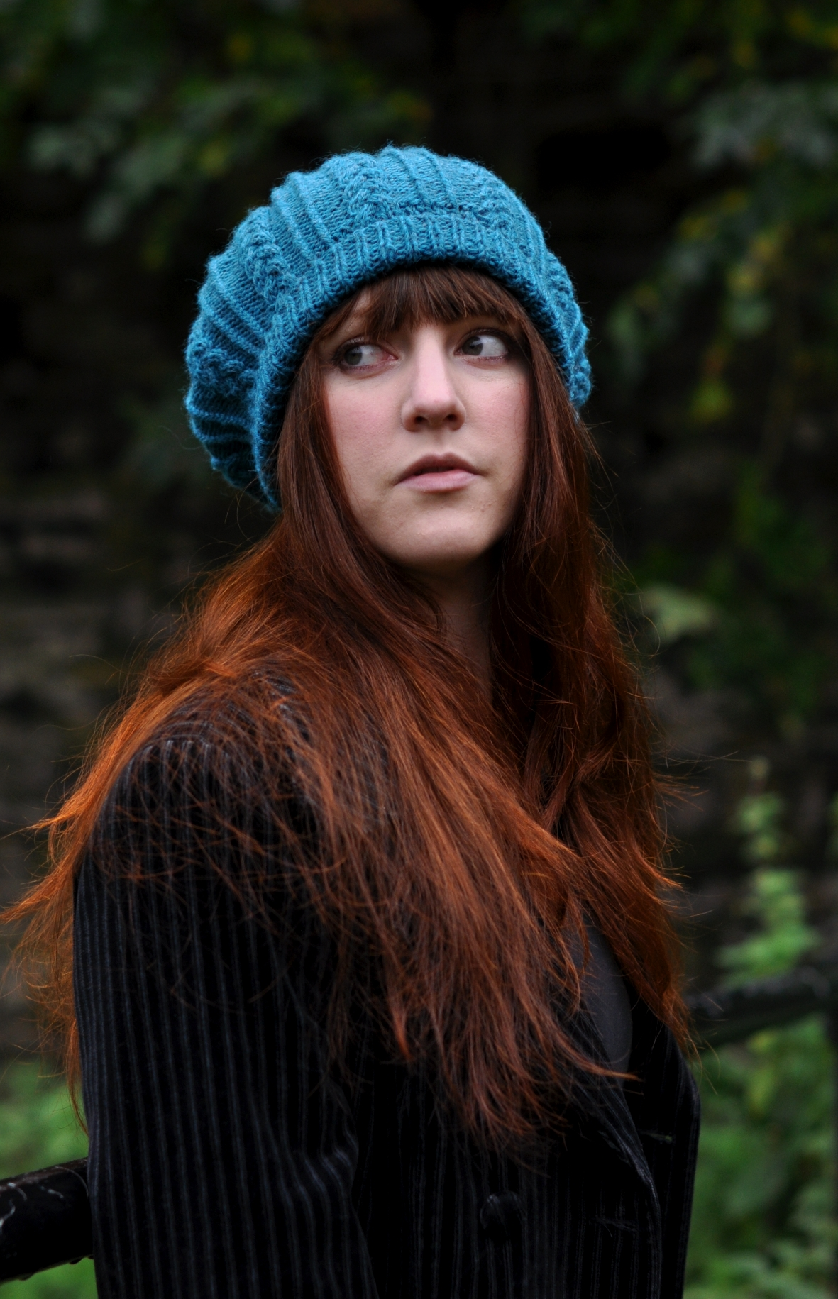 hand knitting pattern for the Tamya cabled beret