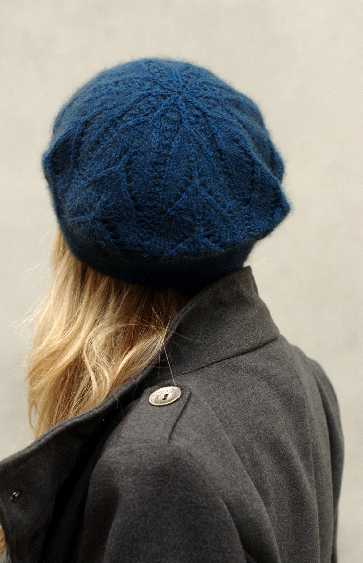 Ivydene lace beret tam knitting pattern