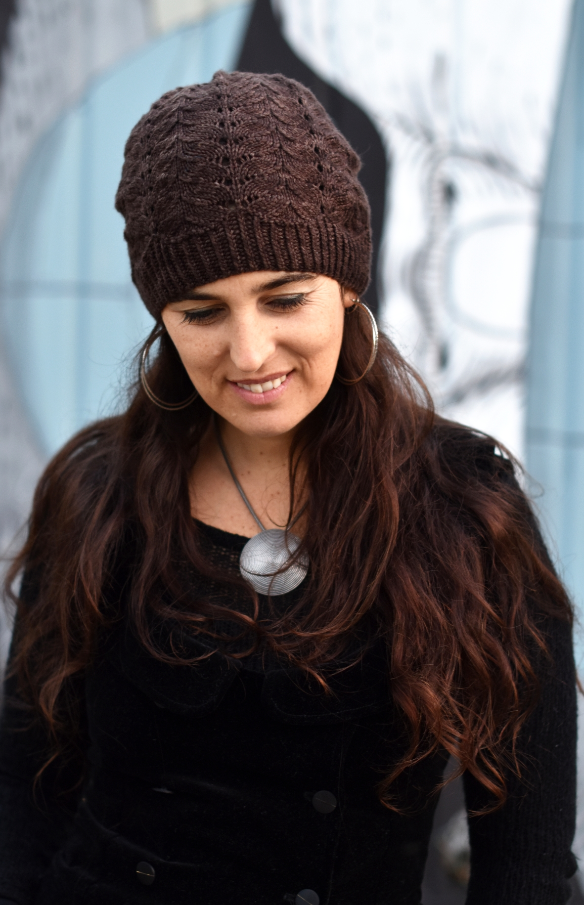 Adiantum slouchy lace Hat kniting pattern