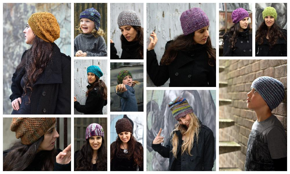 collage of Hats designed and published in 2016
