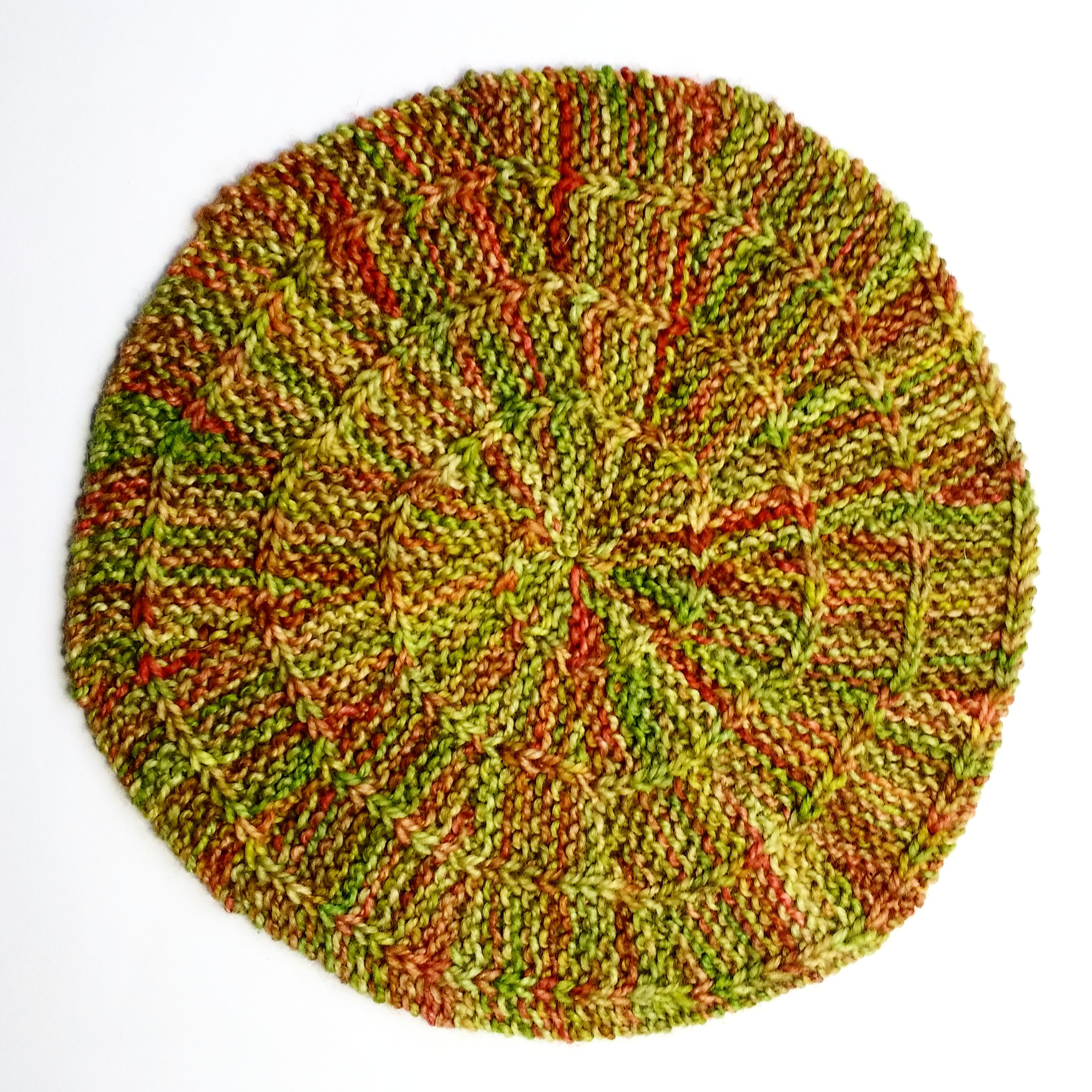 grafted slipped stitch spiral swatch!