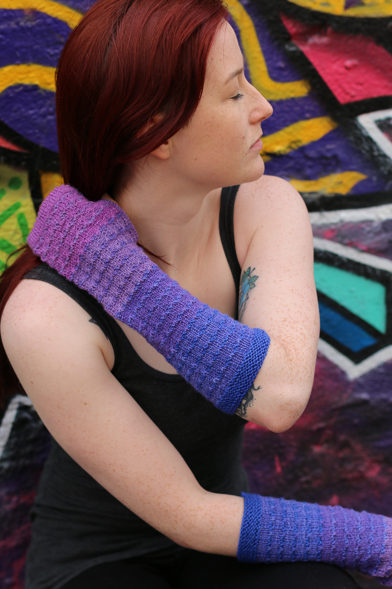 Probys Armwarmers from  Knitting With Rainbows