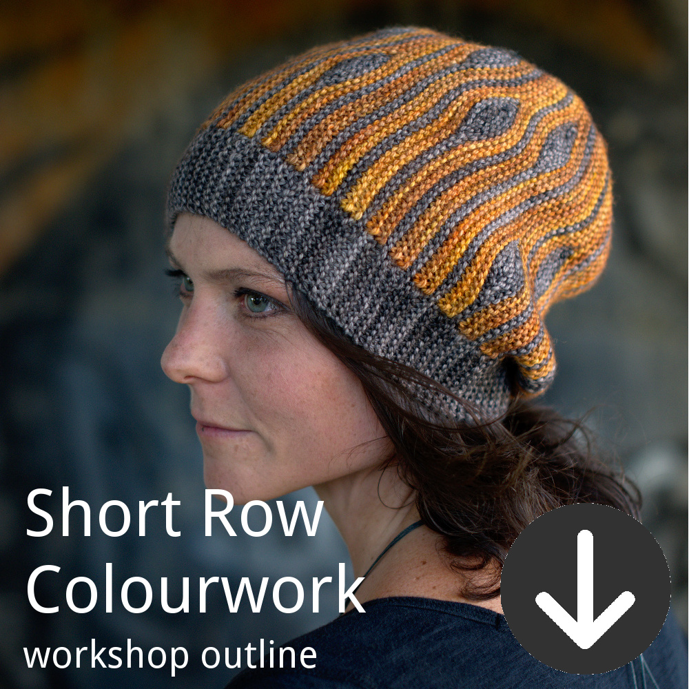 Workshop outline for Woolly Wormhead's Introduction to Short Row Colourwork class