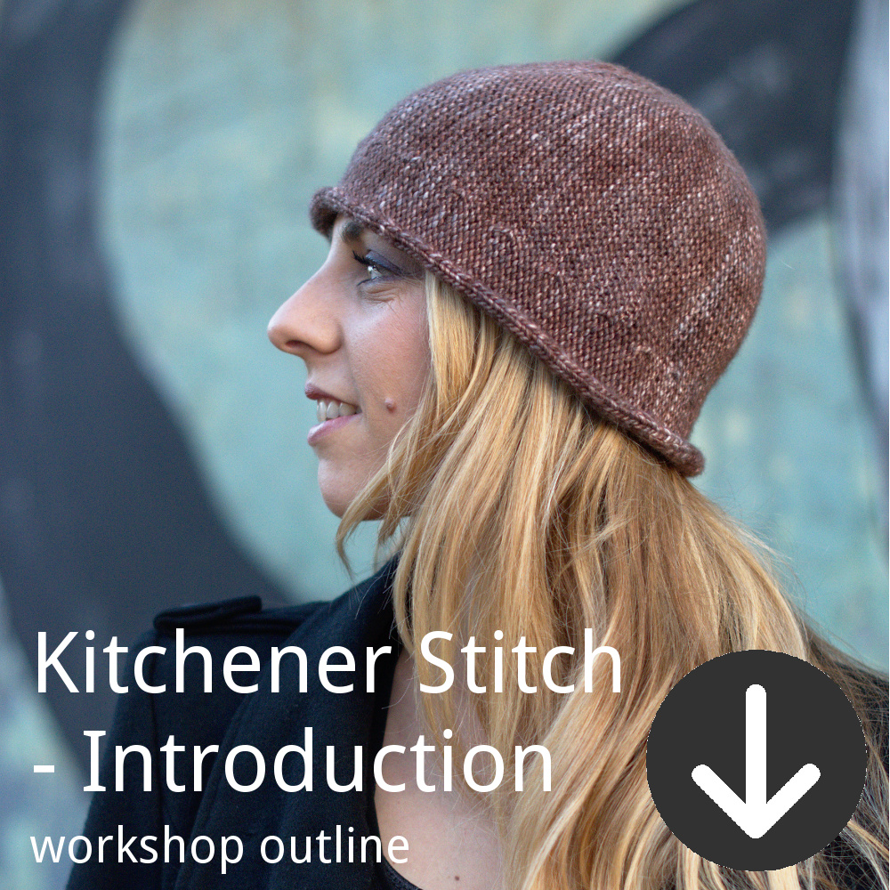 Workshop outline for Woolly Wormhead's Introduction to Kitchener Stitch class