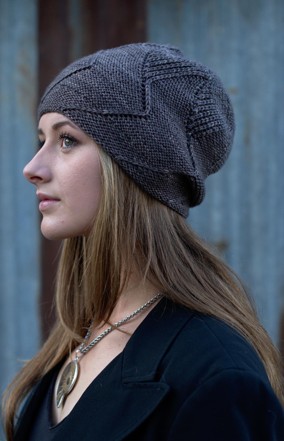 Sette Vele top down slouch Hat hand knitting pattern