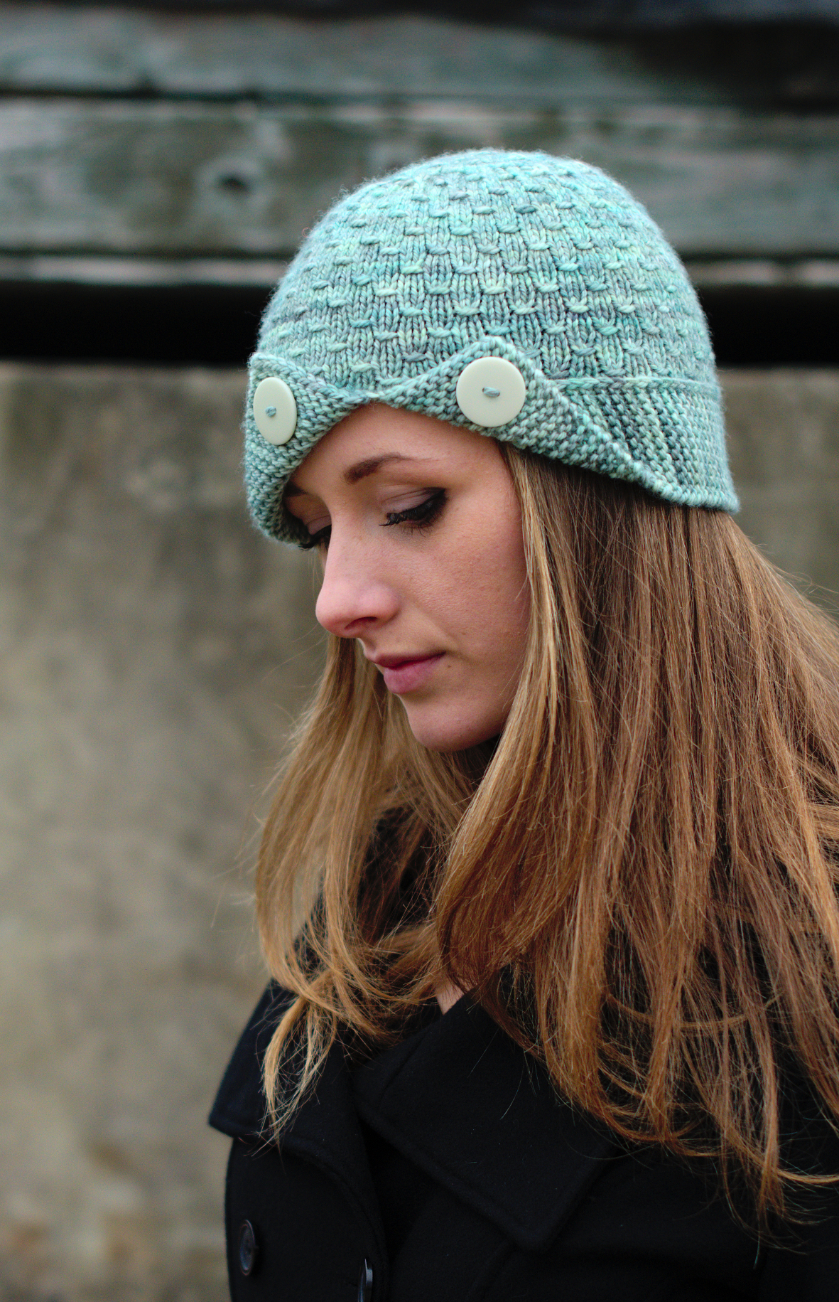 Campello hand knit cloche Hat knitting pattern