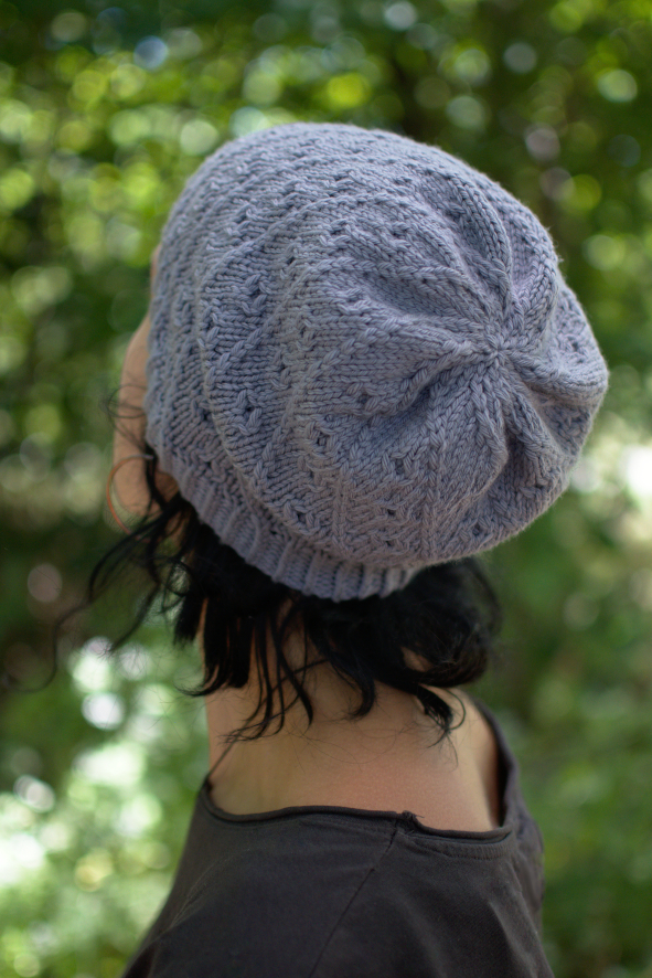 Pebbles beanie and slouch Hat hand knitting pattern
