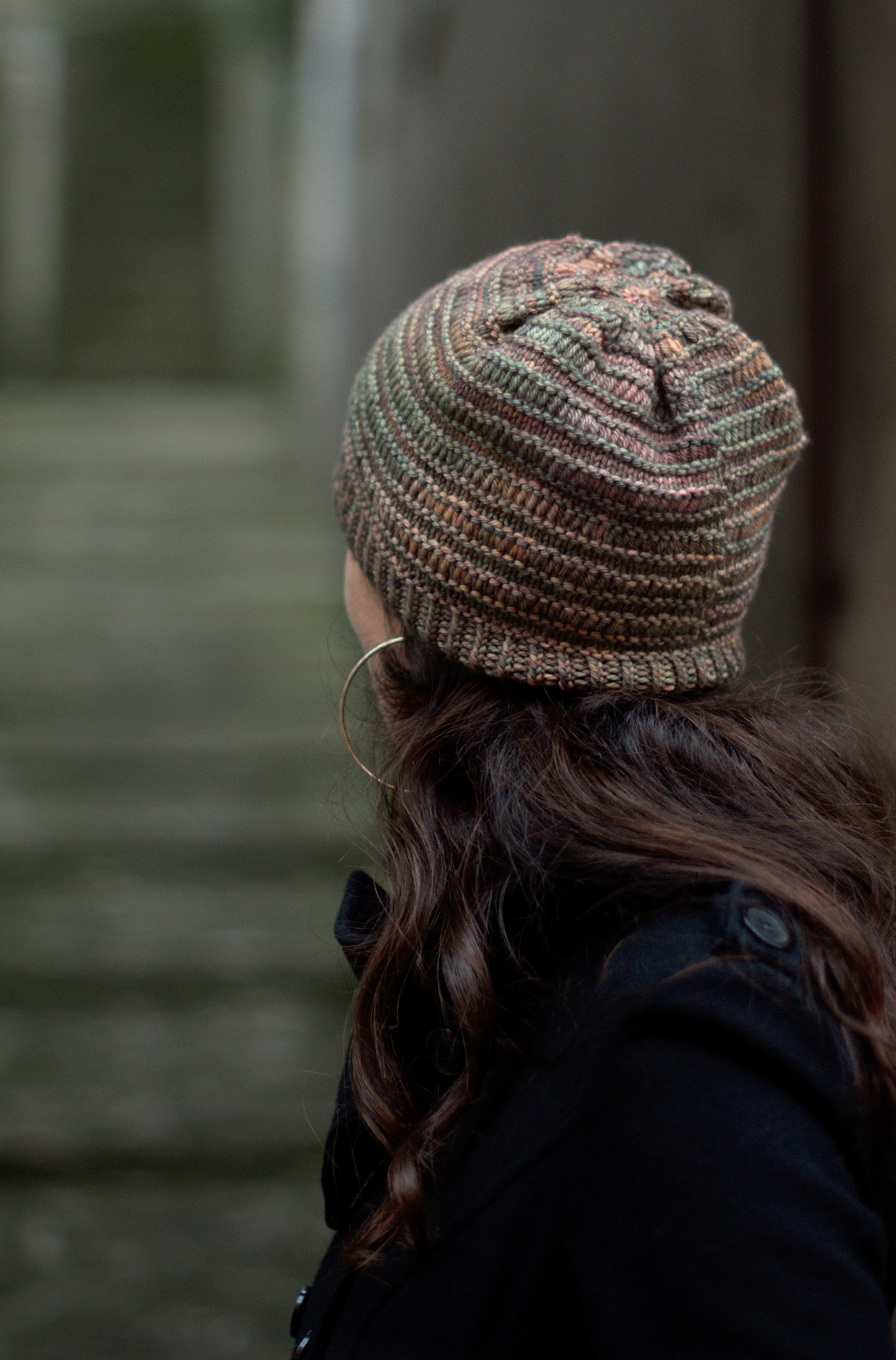 DS Slouch hand knitting pattern for slouch Hat for hand-dyed worsted weight yarn