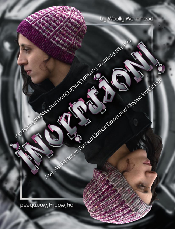 Inversion eBook - 5 sideways knit Hats featuring surface manipulation