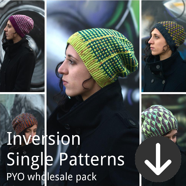 print your own wholesale pack from Woolly Wormhead for Inversion single patterns