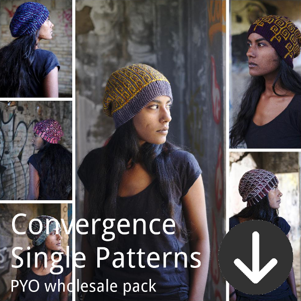 print your own wholesale pack from Woolly Wormhead for Convergence single patterns