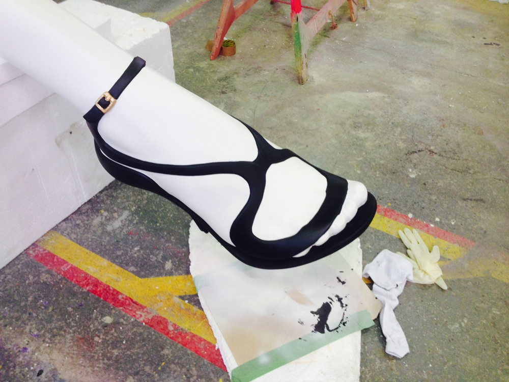Propability-_-Window-Display-_-Scenic-Painting-_-Final-WindowModel-Making-_-Dressing_--and-Design_-Manufacture-and-Installation-_-fenwicks-legs_model_shoes