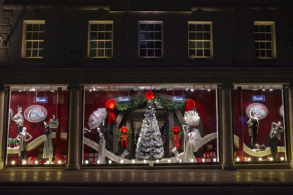 Events & Promotions, Fenwicks, White Christmas,  Irving Berlin's White Christmas musical, Fenwick Bond Street, Retail Design, Props, Sculpts, VM, Visual Merchandising